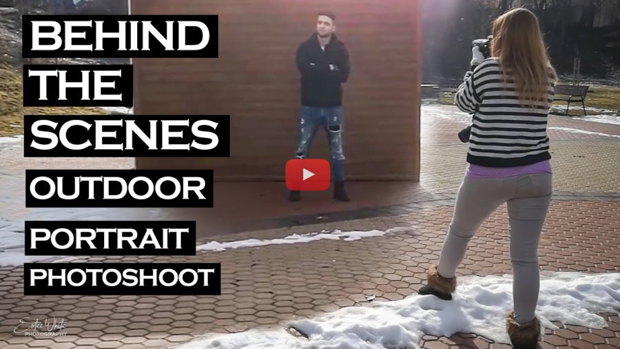 Behind The Scenes Winter Photoshoot with an Actor – Jori | Outdoor