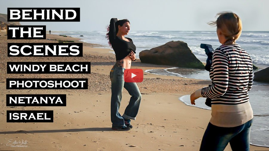 Behind The Scenes Windy Beach Photoshoot – Jordana | Outdoor