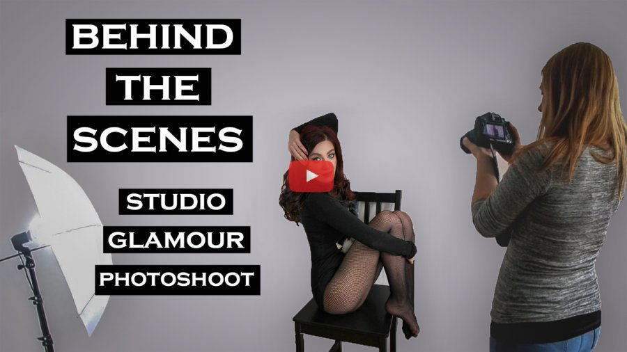 Behind The Scenes Glamour Photoshoot – Elly & MUA | Studio