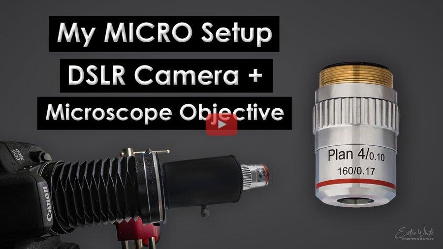 My Micro Setup – DSLR Camera & Microscope Objective, Cheap Setup   Macro Photography