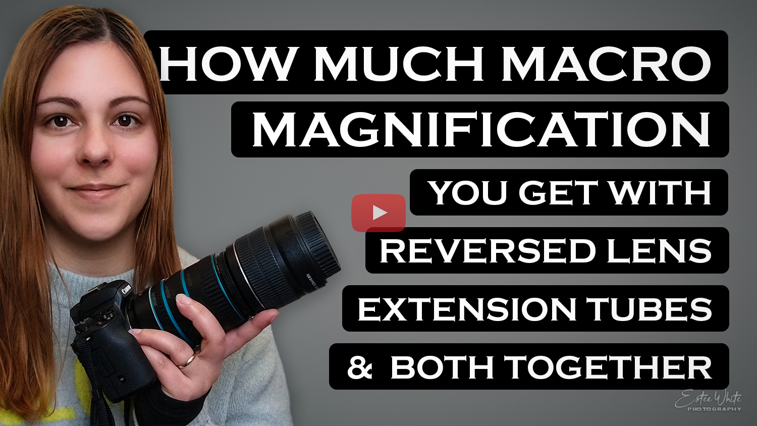 how much macro magnification reverse lens extension tube