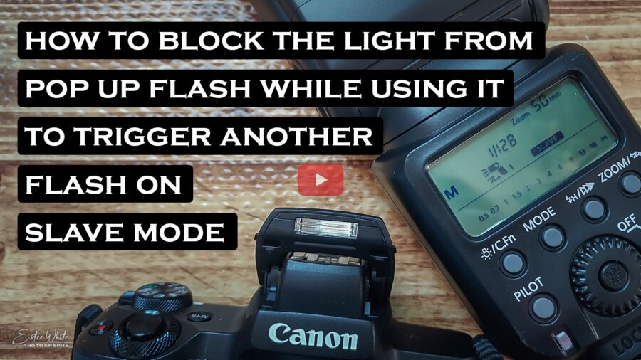How to Block Light from the Pop-up Flash when triggering an OCF on a Slave Mode | Photography DIY
