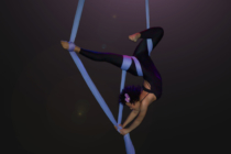 aerial silks girl dancing stage performance