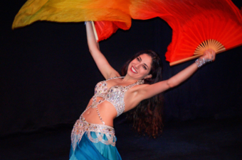 belly dancer girl stage care dance march sahira