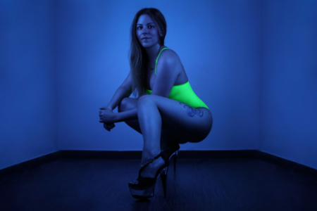 led lights studio portrait color gel photography